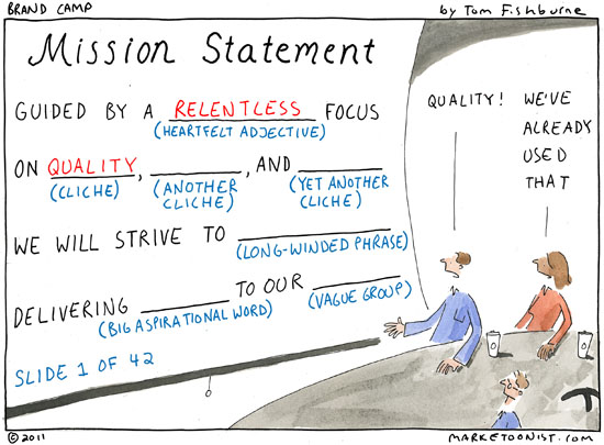 Why Do Organizations Create Mediocre Mission Statements Where Is