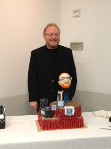 Phil with his retirement cake
