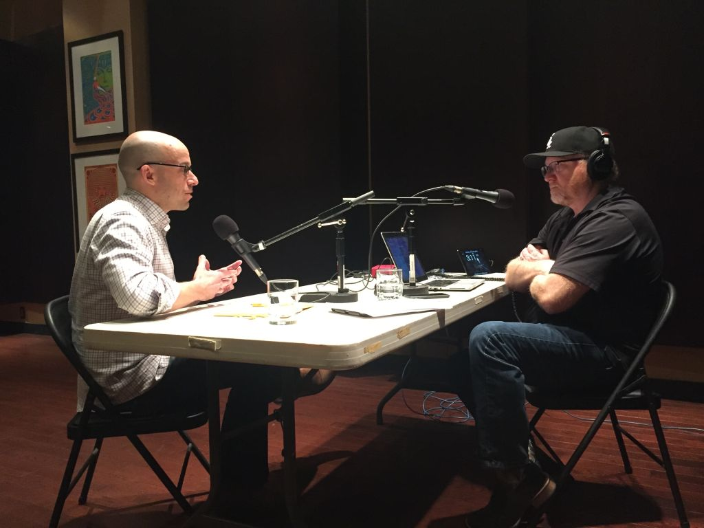Phil McKinney doing an interview for his show Killer Innovations